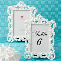 White Baroque Photo Frame